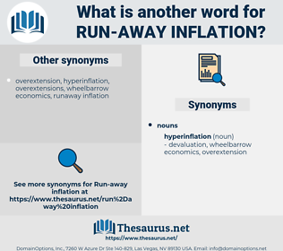 run-away inflation, synonym run-away inflation, another word for run-away inflation, words like run-away inflation, thesaurus run-away inflation