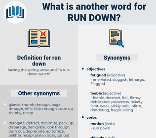 run-down, synonym run-down, another word for run-down, words like run-down, thesaurus run-down
