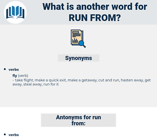 run from, synonym run from, another word for run from, words like run from, thesaurus run from