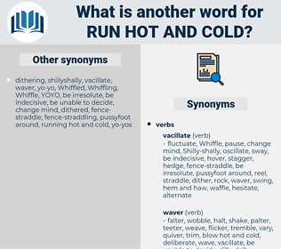 run hot and cold, synonym run hot and cold, another word for run hot and cold, words like run hot and cold, thesaurus run hot and cold