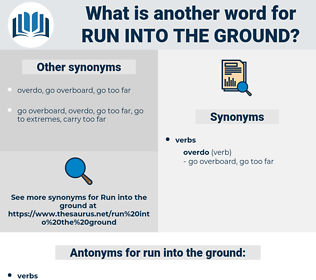 run into the ground, synonym run into the ground, another word for run into the ground, words like run into the ground, thesaurus run into the ground