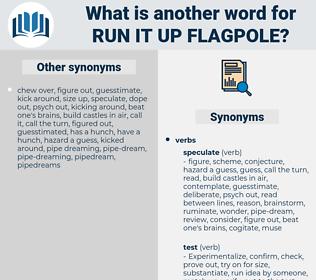 run it up flagpole, synonym run it up flagpole, another word for run it up flagpole, words like run it up flagpole, thesaurus run it up flagpole