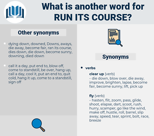 run its course, synonym run its course, another word for run its course, words like run its course, thesaurus run its course