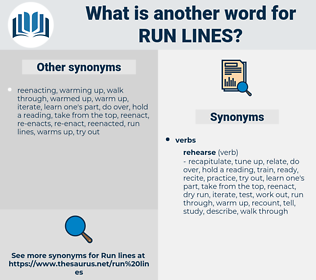 run lines, synonym run lines, another word for run lines, words like run lines, thesaurus run lines