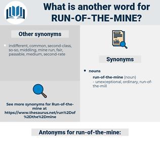 run-of-the-mine, synonym run-of-the-mine, another word for run-of-the-mine, words like run-of-the-mine, thesaurus run-of-the-mine