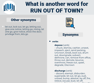 run out of town, synonym run out of town, another word for run out of town, words like run out of town, thesaurus run out of town