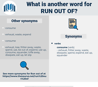 run out of, synonym run out of, another word for run out of, words like run out of, thesaurus run out of