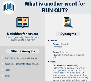 run out, synonym run out, another word for run out, words like run out, thesaurus run out