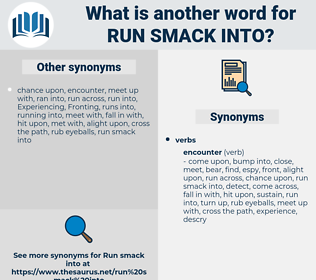 run smack into, synonym run smack into, another word for run smack into, words like run smack into, thesaurus run smack into