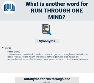 run through one mind, synonym run through one mind, another word for run through one mind, words like run through one mind, thesaurus run through one mind