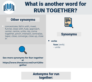 run together, synonym run together, another word for run together, words like run together, thesaurus run together