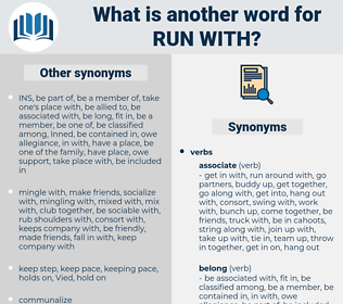 run with, synonym run with, another word for run with, words like run with, thesaurus run with