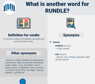 rundle, synonym rundle, another word for rundle, words like rundle, thesaurus rundle