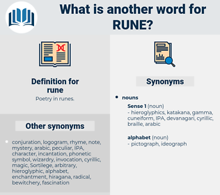 rune, synonym rune, another word for rune, words like rune, thesaurus rune