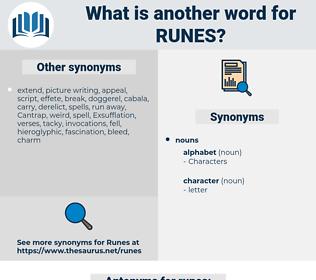 runes, synonym runes, another word for runes, words like runes, thesaurus runes