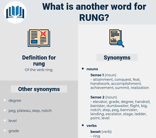 rung, synonym rung, another word for rung, words like rung, thesaurus rung
