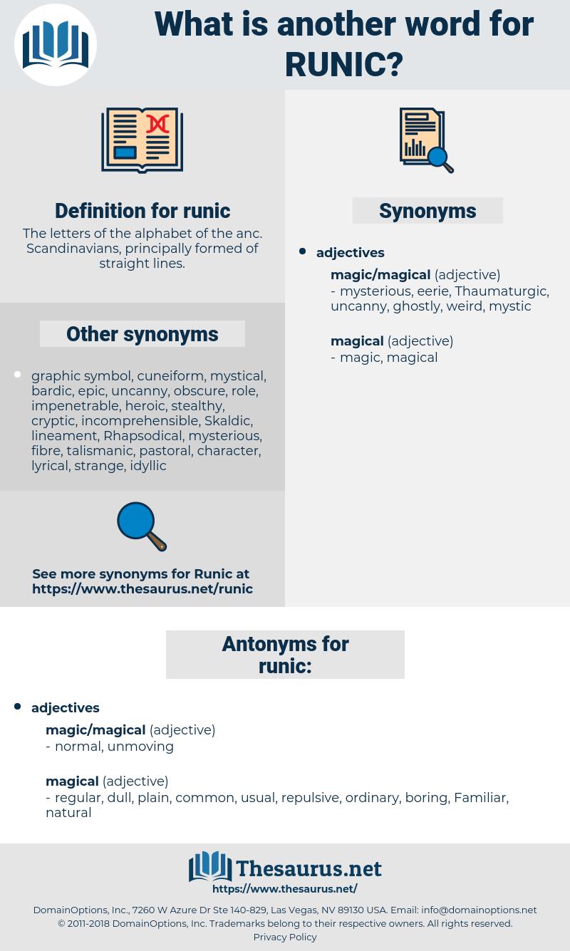 runic, synonym runic, another word for runic, words like runic, thesaurus runic