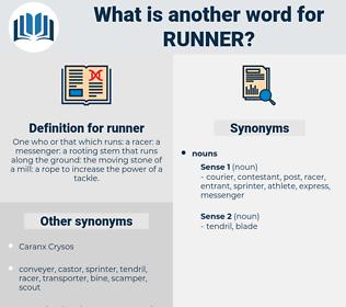 runner, synonym runner, another word for runner, words like runner, thesaurus runner