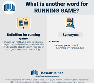 running game, synonym running game, another word for running game, words like running game, thesaurus running game