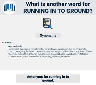 running in to ground, synonym running in to ground, another word for running in to ground, words like running in to ground, thesaurus running in to ground