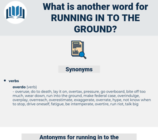 running in to the ground, synonym running in to the ground, another word for running in to the ground, words like running in to the ground, thesaurus running in to the ground