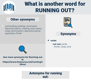 running out, synonym running out, another word for running out, words like running out, thesaurus running out