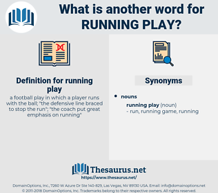 running play, synonym running play, another word for running play, words like running play, thesaurus running play