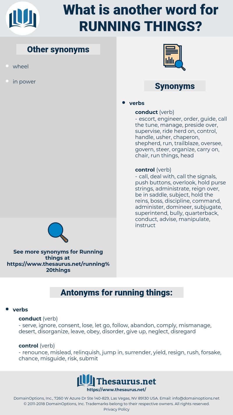 running things, synonym running things, another word for running things, words like running things, thesaurus running things