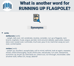 running up flagpole, synonym running up flagpole, another word for running up flagpole, words like running up flagpole, thesaurus running up flagpole