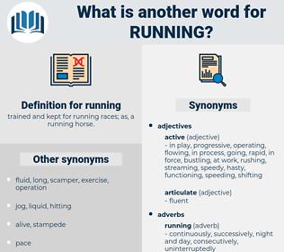 running, synonym running, another word for running, words like running, thesaurus running