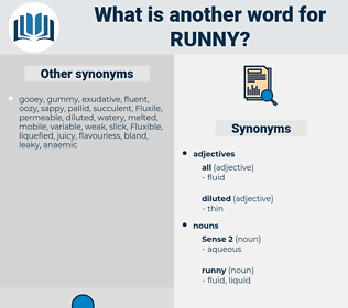 runny, synonym runny, another word for runny, words like runny, thesaurus runny