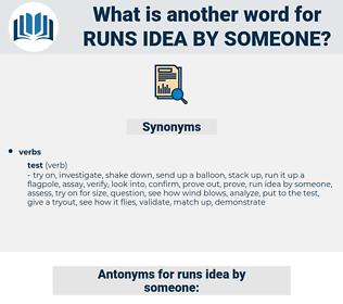 runs idea by someone, synonym runs idea by someone, another word for runs idea by someone, words like runs idea by someone, thesaurus runs idea by someone