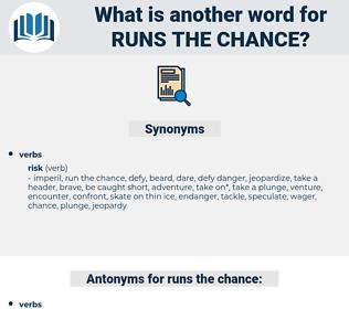 runs the chance, synonym runs the chance, another word for runs the chance, words like runs the chance, thesaurus runs the chance