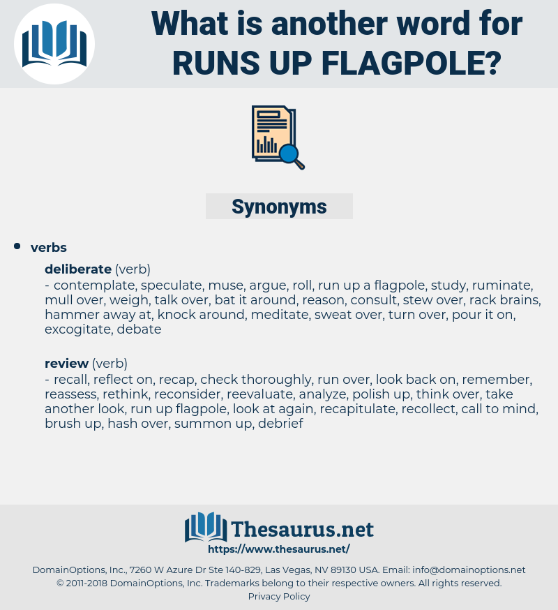 runs up flagpole, synonym runs up flagpole, another word for runs up flagpole, words like runs up flagpole, thesaurus runs up flagpole