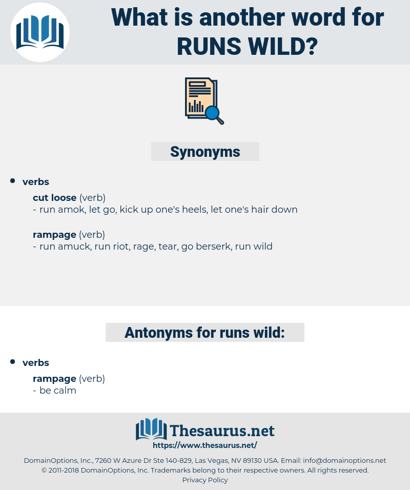 runs wild, synonym runs wild, another word for runs wild, words like runs wild, thesaurus runs wild
