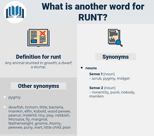 runt, synonym runt, another word for runt, words like runt, thesaurus runt