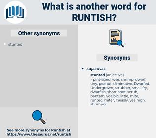 runtish, synonym runtish, another word for runtish, words like runtish, thesaurus runtish