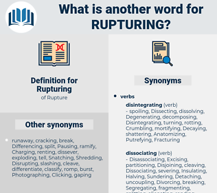Rupturing, synonym Rupturing, another word for Rupturing, words like Rupturing, thesaurus Rupturing
