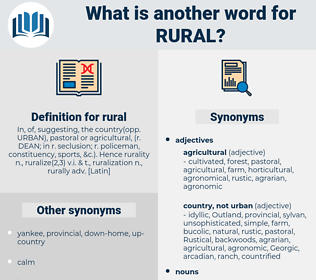 rural, synonym rural, another word for rural, words like rural, thesaurus rural