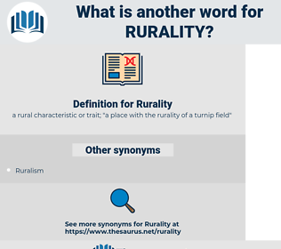 Rurality, synonym Rurality, another word for Rurality, words like Rurality, thesaurus Rurality
