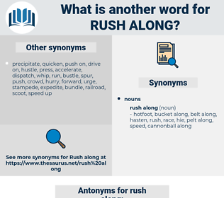 rush along, synonym rush along, another word for rush along, words like rush along, thesaurus rush along