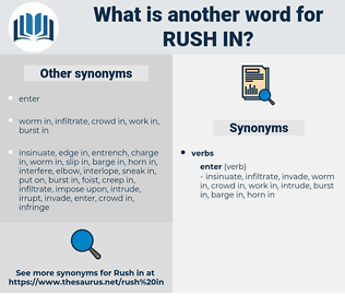 rush in, synonym rush in, another word for rush in, words like rush in, thesaurus rush in