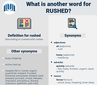 rushed, synonym rushed, another word for rushed, words like rushed, thesaurus rushed