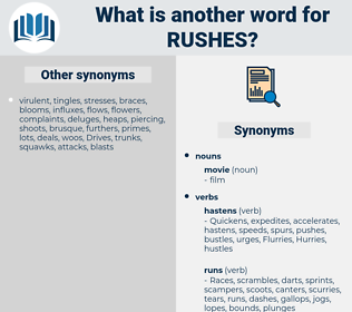 rushes, synonym rushes, another word for rushes, words like rushes, thesaurus rushes
