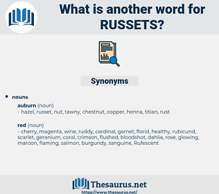 russets, synonym russets, another word for russets, words like russets, thesaurus russets
