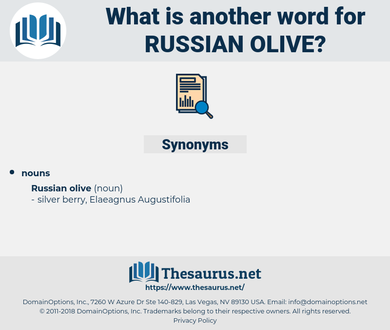 Russian Olive, synonym Russian Olive, another word for Russian Olive, words like Russian Olive, thesaurus Russian Olive