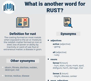 rust, synonym rust, another word for rust, words like rust, thesaurus rust