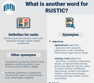 rustic, synonym rustic, another word for rustic, words like rustic, thesaurus rustic