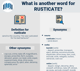 rusticate, synonym rusticate, another word for rusticate, words like rusticate, thesaurus rusticate