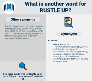 rustle up, synonym rustle up, another word for rustle up, words like rustle up, thesaurus rustle up